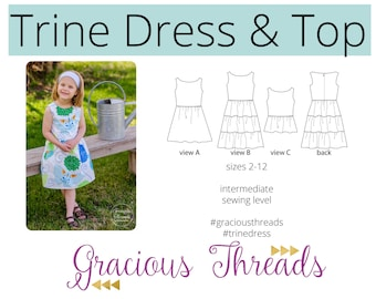 Trine Dress and Top pdf sewing pattern