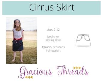 Cirrus Skirt pdf sewing pattern 2T-12