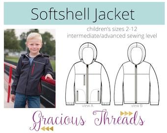 Softshell Jacket PDF Pattern 2t-12