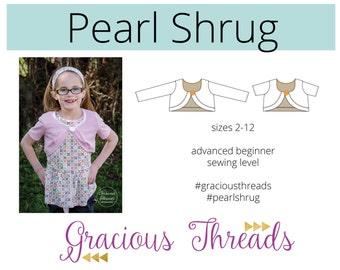 Pearl Shrug pdf sewing pattern 2t-12