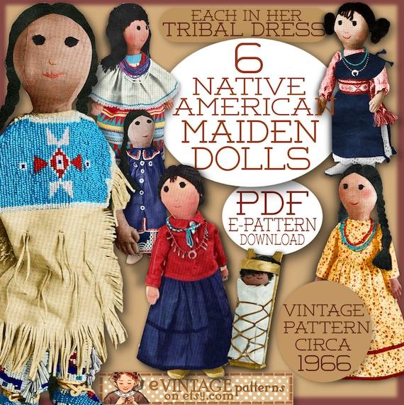 Nähen Sie süße Puppen Native American Indian Puppen Tuch 7 | Etsy