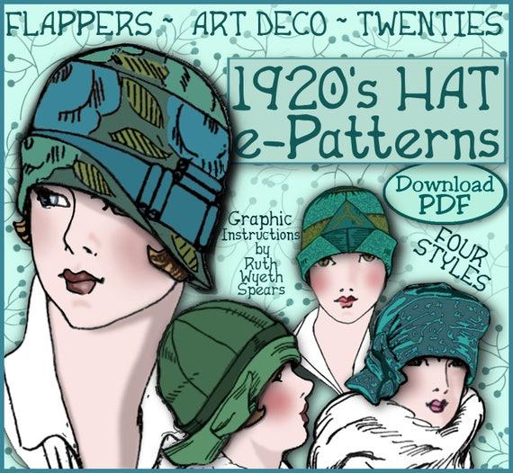 Art Deco Era Flapper Style Hat Downton Abbey Hat Vintage Style Cloche Gatsby Style Black Velvet Animal Print 1920s Cloche Hat