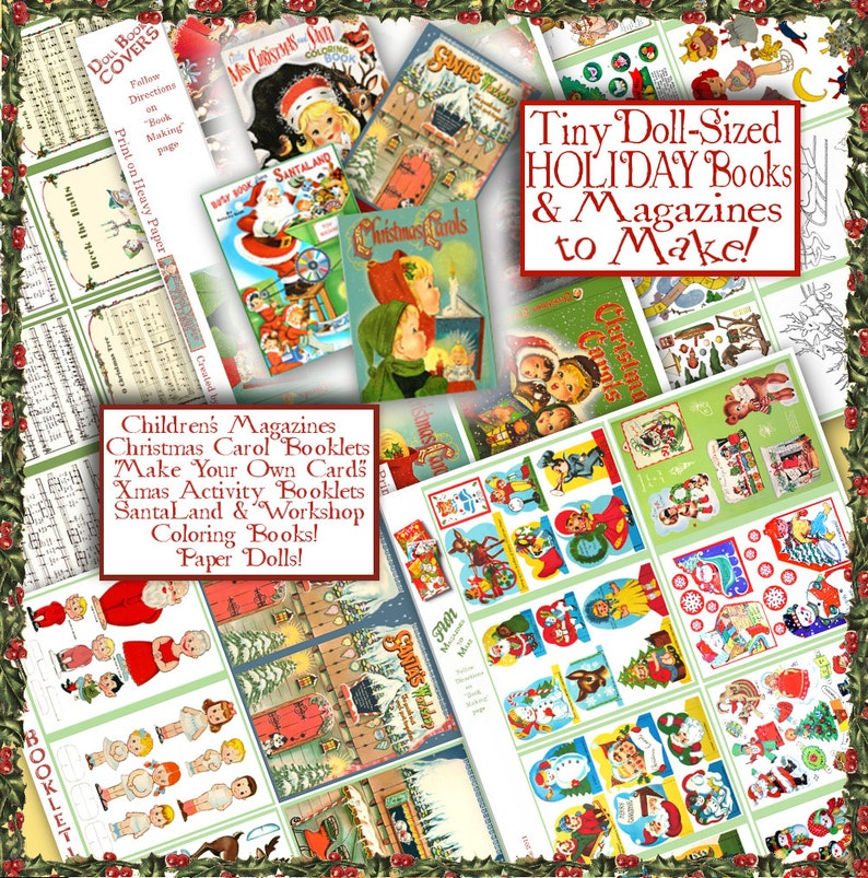 AG Doll CHRISTMAS Fun Stuff PRINTABLES over 50 pages of Craft things to do  with your American Girl doll