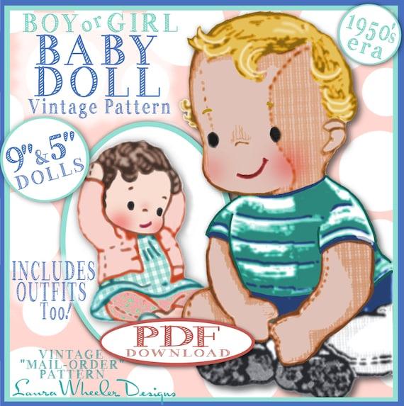 Junge Baby Puppe Vintage Muster 1950er Jahre Versandhandel | Etsy