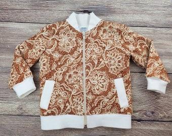 Toddler Bomber Jacket - Baby Jacket - Toddler Fall Jacket - Sherpa Lining - Baby Girl Bomber Jacket - 18 Months Size - Hoodless Coat