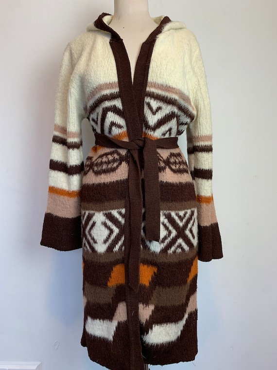 Vintage Southwest Style Knit Sweater Earthtones Ch