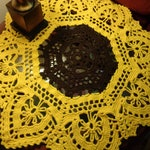 Sunflower Doily Extra Large Crochet Table Decor, Gift for Grandma, Farmhouse Decor, Coffee Table Cover, Dining Table Decor