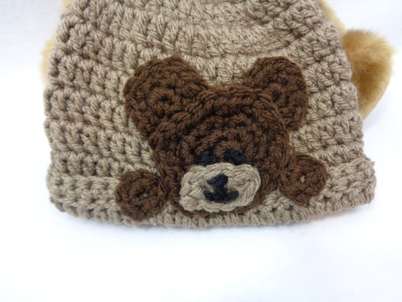 813e69e8379 Brown Bear Cap Teddy Bear Baby Hat Bear Hat MADE TO ORDER