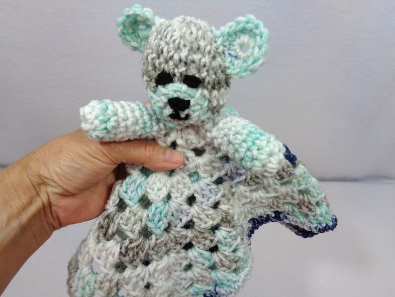 Teddy Bear Lovey Baby Shower Gift for Boy or Girl  Mint and image 0