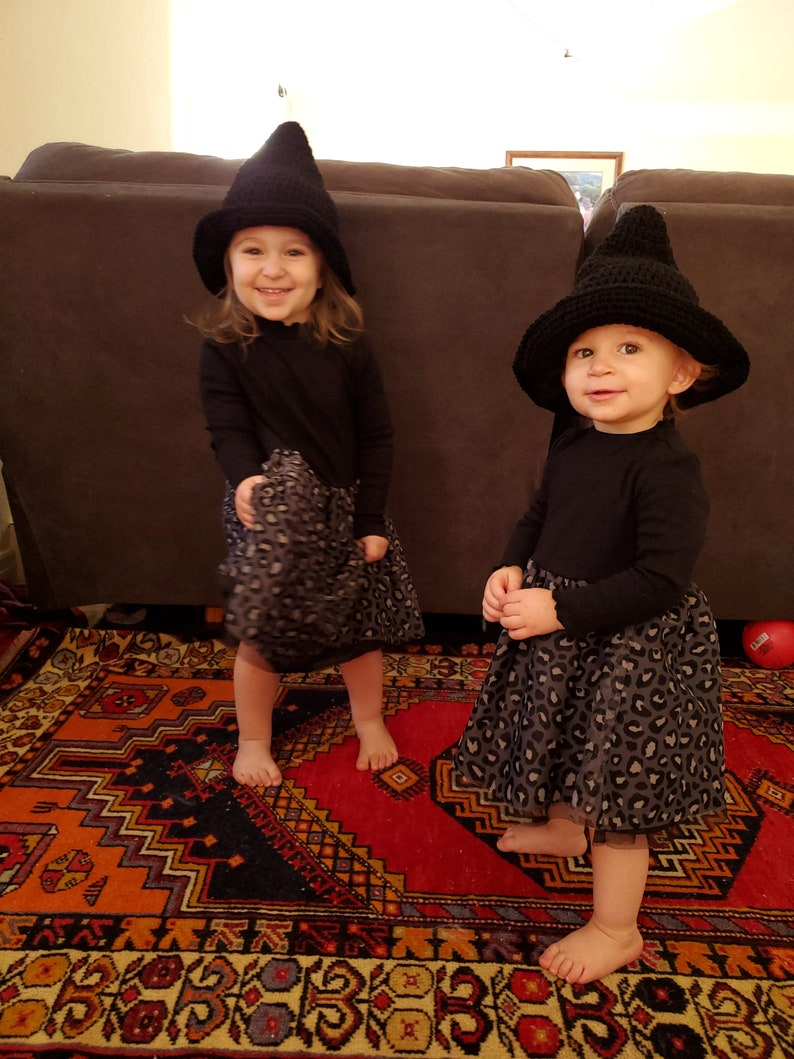 Witch's Hat Crochet Halloween Costume MADE TO ORDER by image 0