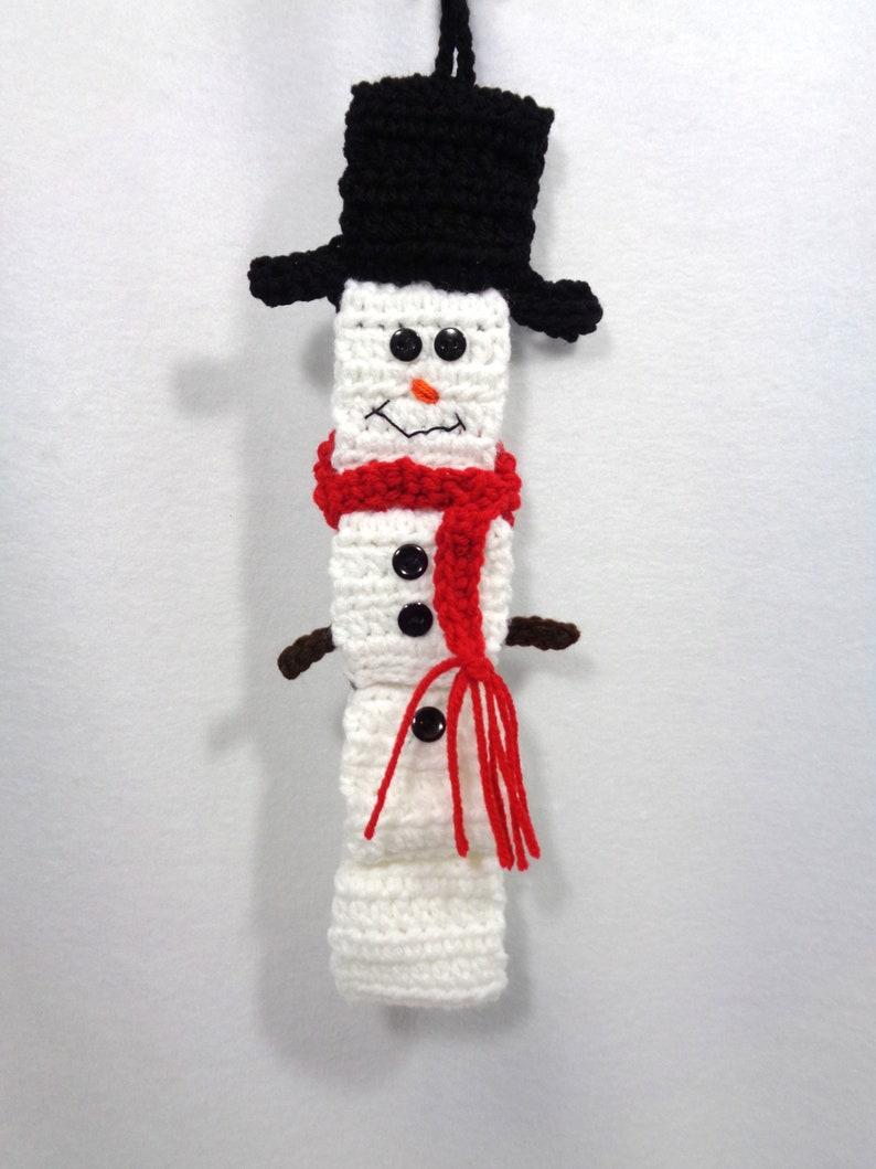 Snowman Wall Hanging Crochet Snowman Decoration Paper Chain image 0