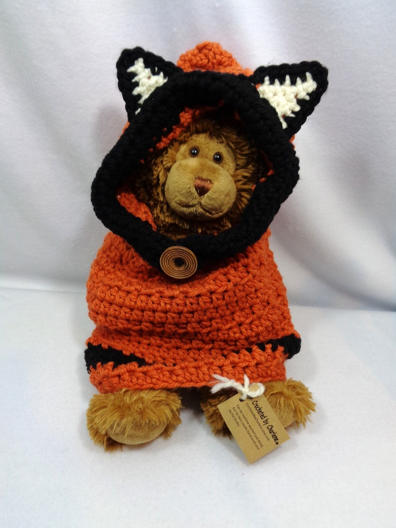 Crochet Fox Cowl for Baby Rust Colored Fox Halloween Costume image 0