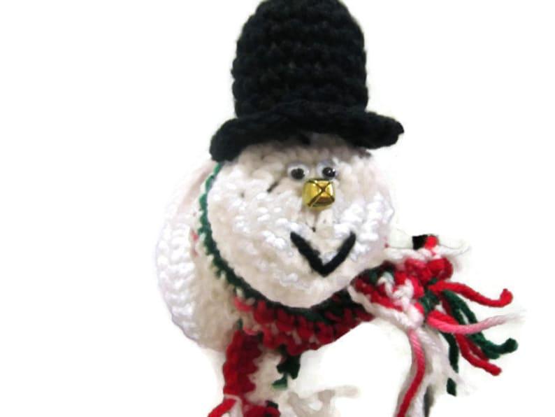 Snowman Doorknob Cover Crochet Christmas Snowman Decoration image 0