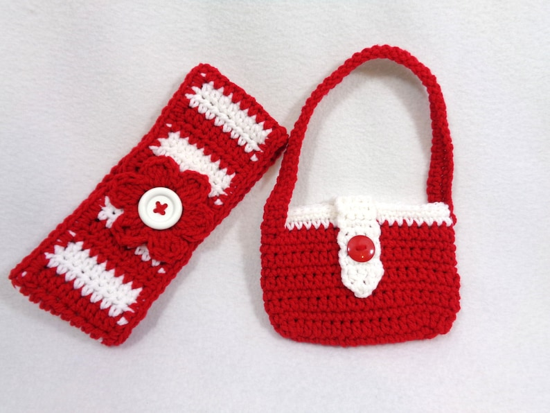 Christmas Headwarmer and Matching Purse Red and White image 0