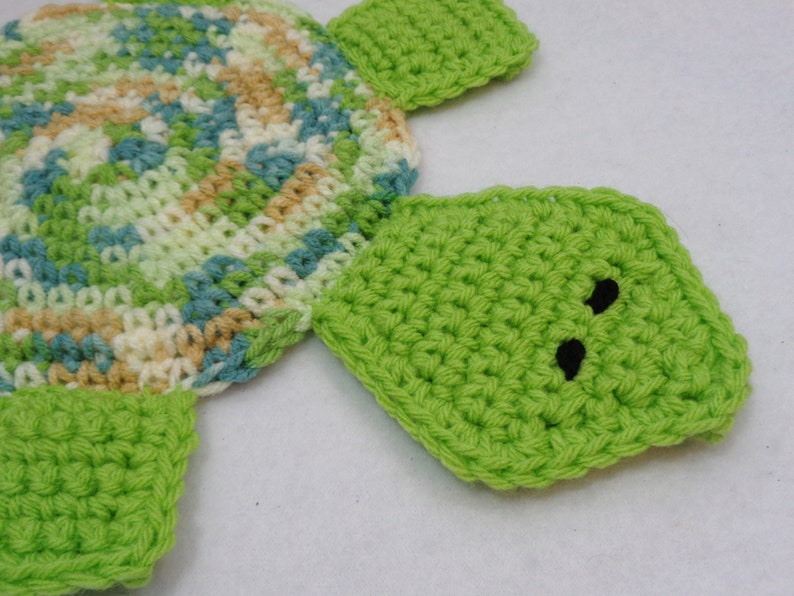 Mother's Day Gift Turtle Pot Holder Crocheted Hot Pad in image 0