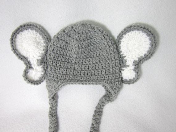 Grauer Elefant Beanie Mütze Häkeln Baby Dschungel Tier Hut Etsy