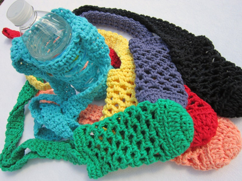 Water Bottle Holder You Pick the Color One Holder Cotton image 0
