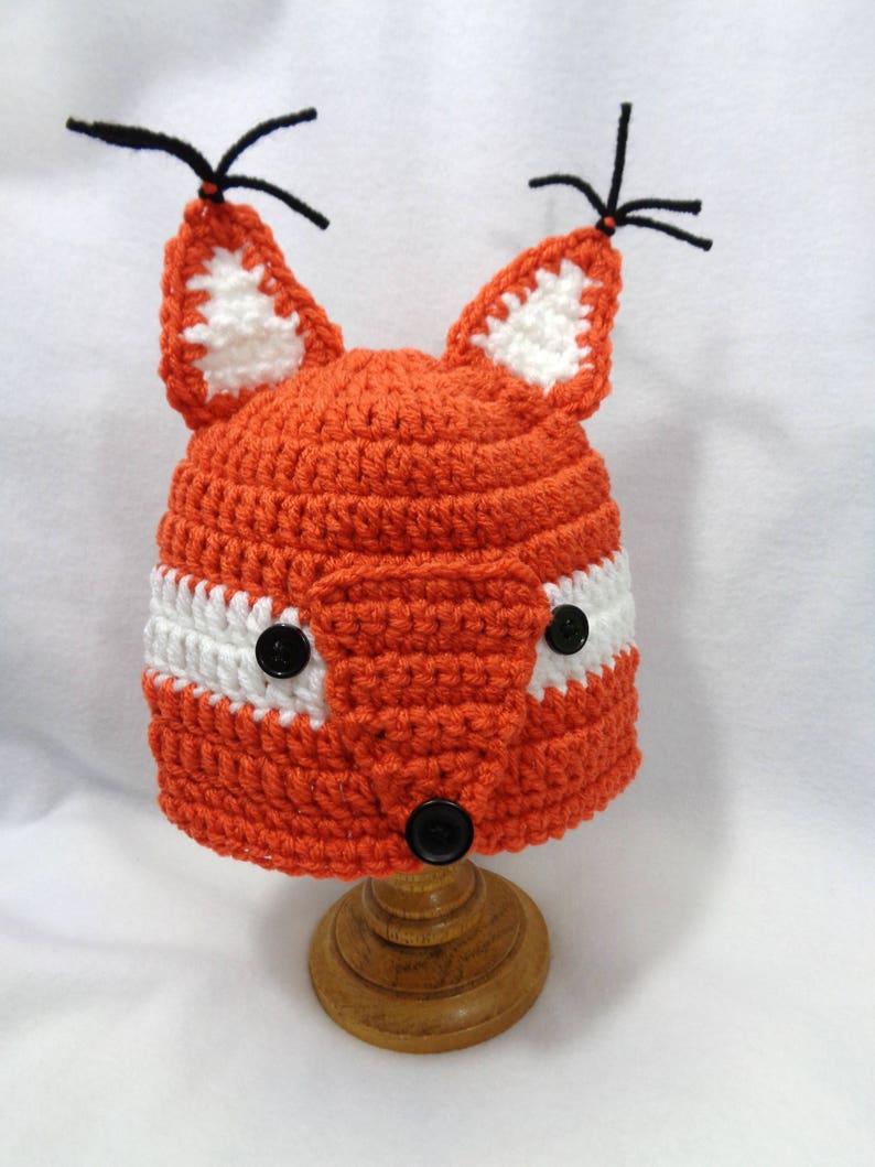 Little Rust Fox Cap Fox Baby Hat Halloween Animal Hat image 0