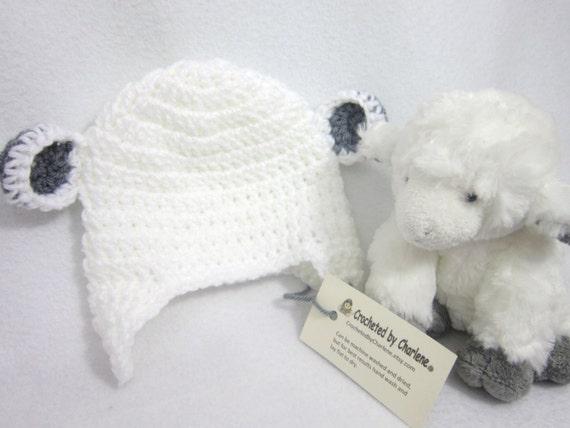 Weiße Lamm Baby Mütze Häkeln Baby Schaf Tier Hut Foto Prop Etsy