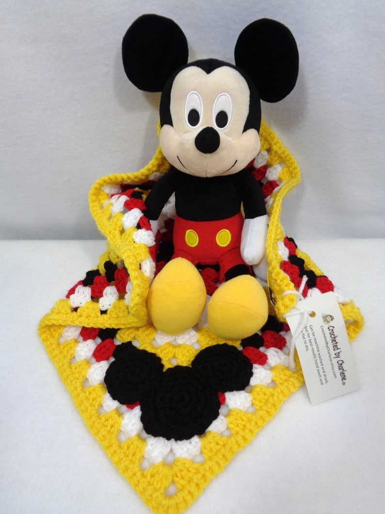 Mickey Mouse Inspired Lovey with Mickey Mouse Toy Gift from image 0