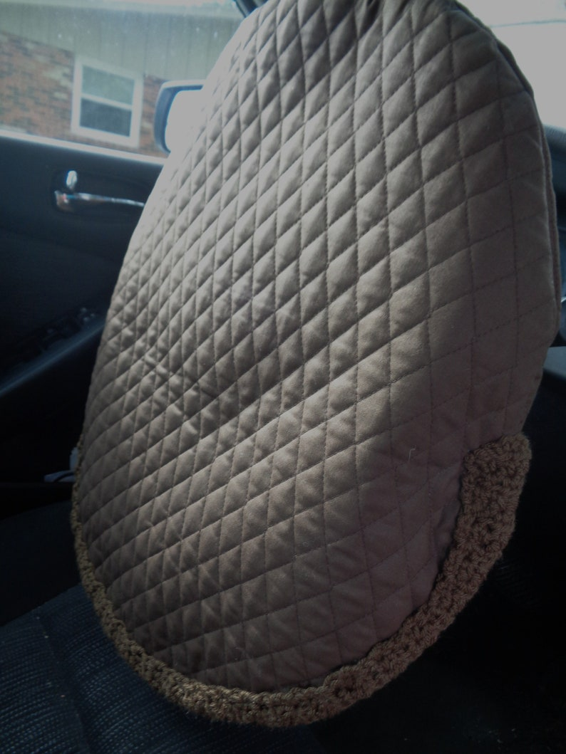 Brown Quilted Steering Wheel Cover Gift for Dad Present for image 0