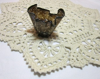 Crochet Ecru Doily, Table Cover for Round Table by Charlene, Large Kitchen Table Placemat, Gift for Mom, Extra Large Cream Yarn Doily