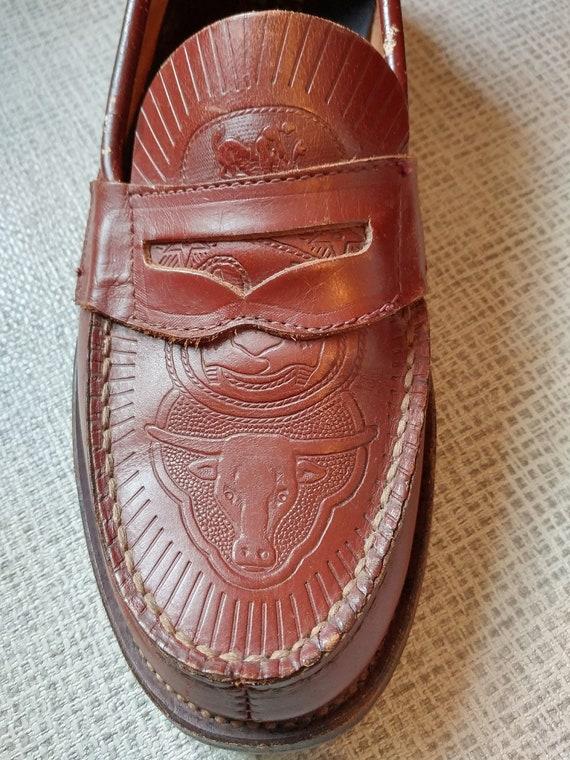 Original 1950s Shorthorn Western Rodeo motif loafe