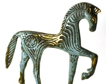 Mycenaean Bronze Horse Sculpture Ancient Greek Handmade Figurine Statue 9cm