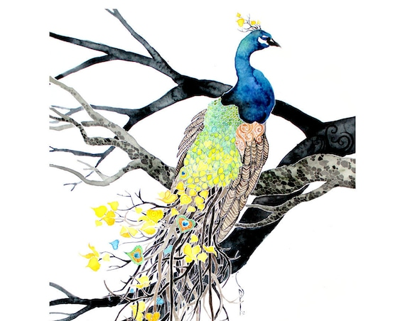 Autumn Plumage -giclee PRINT of original watercolor