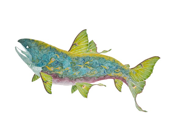 Night Swim - giclee PRINT of original watercolor painting