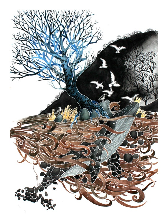 The Soil Sea -giclee PRINT of original watercolor art