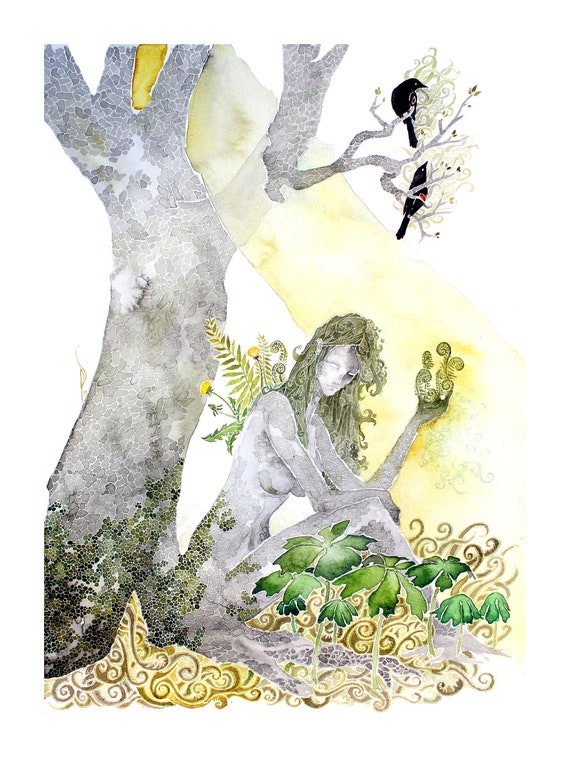 Spring -giclee PRINT of my original watercolor -