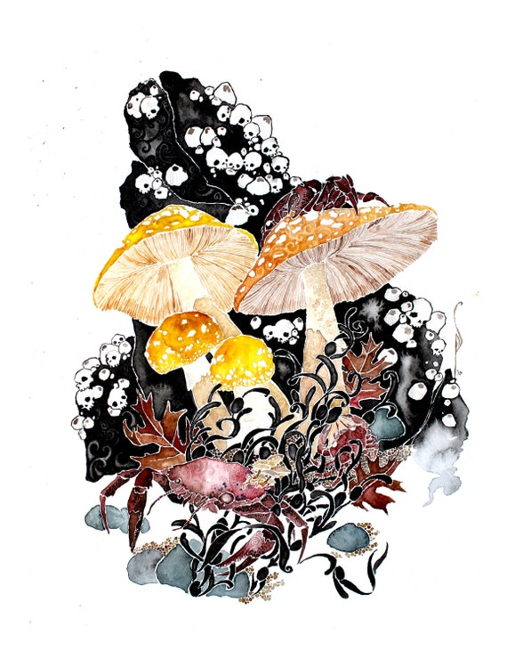 It's Getting Late -giclee PRINT of my original watercolor -