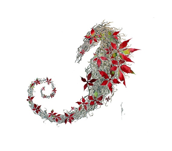 Seahorse -giclee PRINT of original watercolor