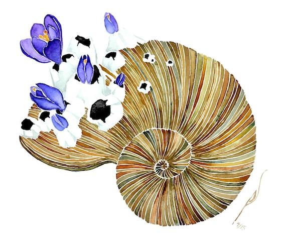 April -giclee PRINT  of original watercolor-