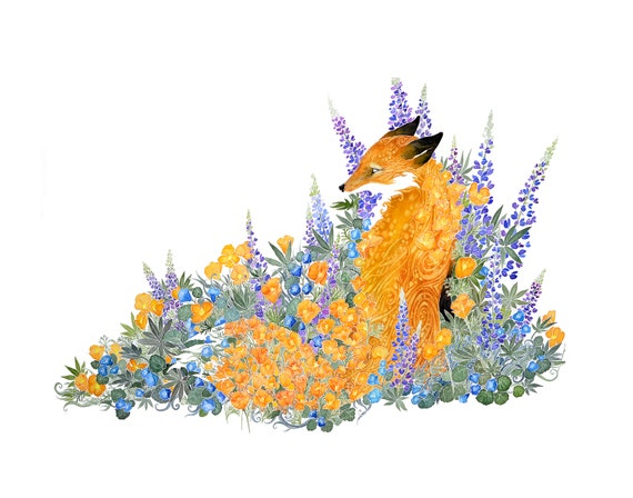Oasis - giclee PRINT of original watercolor painting