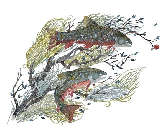 Sunken Branch -  PRINT of original watercolor