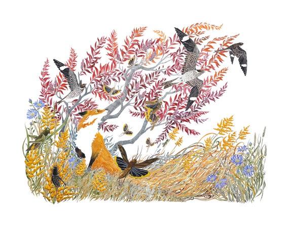 Rising Eventide -  PRINT of original watercolor