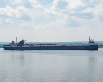 Michipicoten Photograph, Color Photography, 8x10, 5x7, 8x8, Cargo Ship, Ore Boat, Freighter, Lake Superior Print