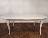 20th Century Louis XV Style Painted Dining Table with Leaves