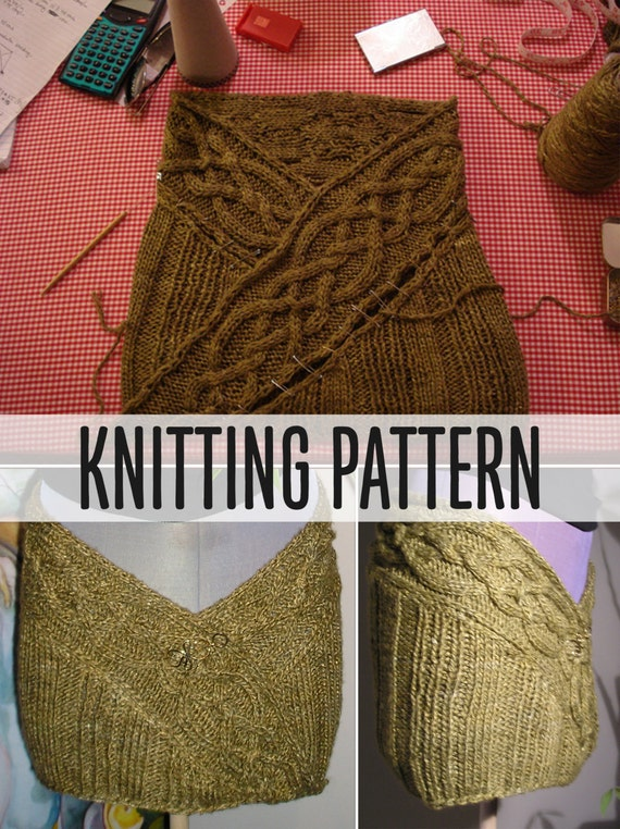 Celtic Cable Wrap Skirt Knitting Pattern PDF | Etsy