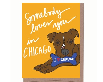 City Dog Souvenir Card