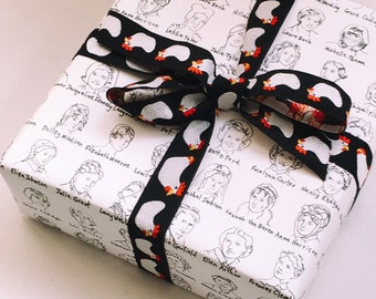 First Ladies Wrapping Paper Sheet