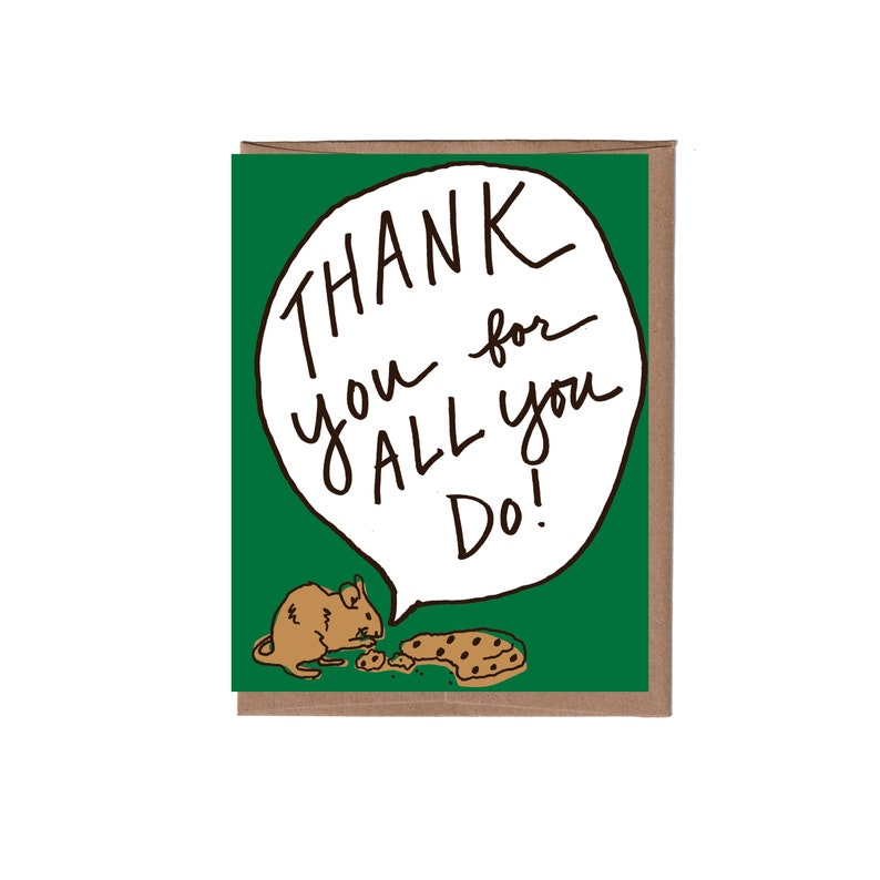 Mouse Thank You Card