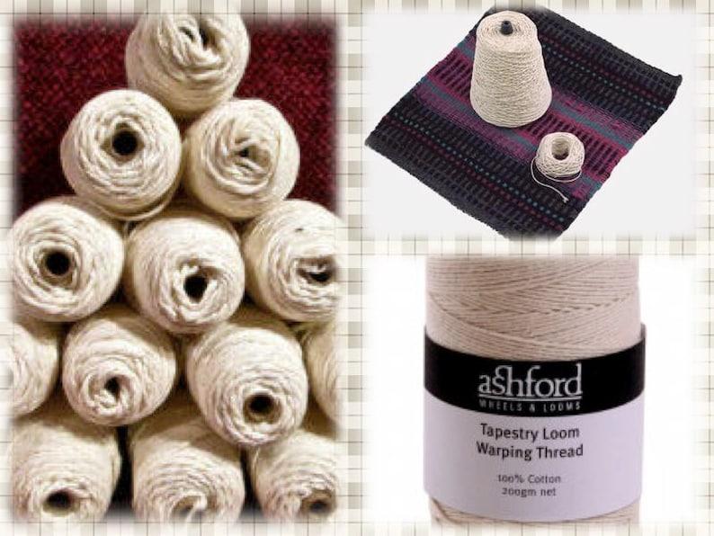 100% Cotton Warp 200 gm 1 pound & 1 oz 8/4 10/2 and 12/6 image 0
