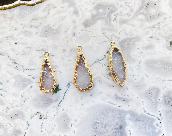 Featured listing image: Rose Quartz Necklace // Create Your Own Rose Quartz Necklace // Rose Quartz Crystal Necklace // Bridesmaid Gift Jewelry // Rose Quartz Gemst
