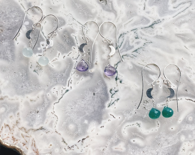 Featured listing image: Crescent Moon Earrings - Sterling Silver