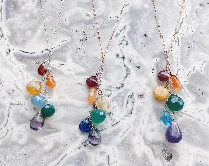 Rainbow Cascade Necklace - Create Your Own