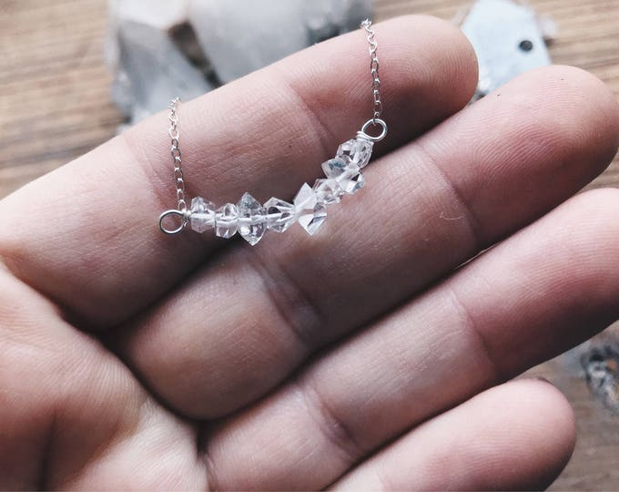 Herkimer Bar Necklace - Create Your Own