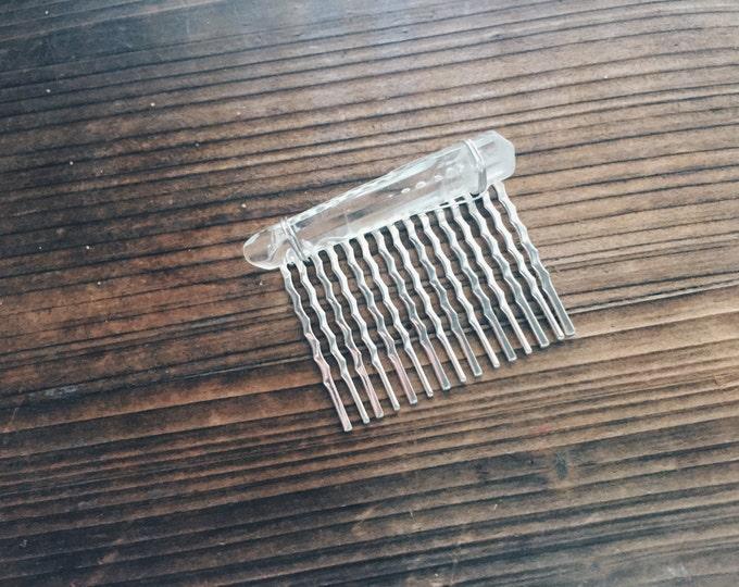 Silver Quartz Haircomb